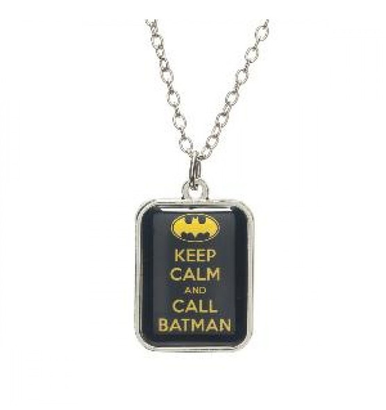 DC Comics Keep Calm and Call Batman Chain Necklace Costume Jewelry