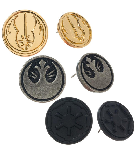 Star Wars Episode 1 Alliances Symbols Earrings Set Costume Jewelry 3/PK