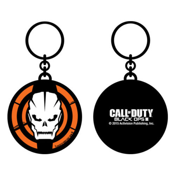 Call of Duty Zombies Black Ops III Metal Keychain Keyring Video Game