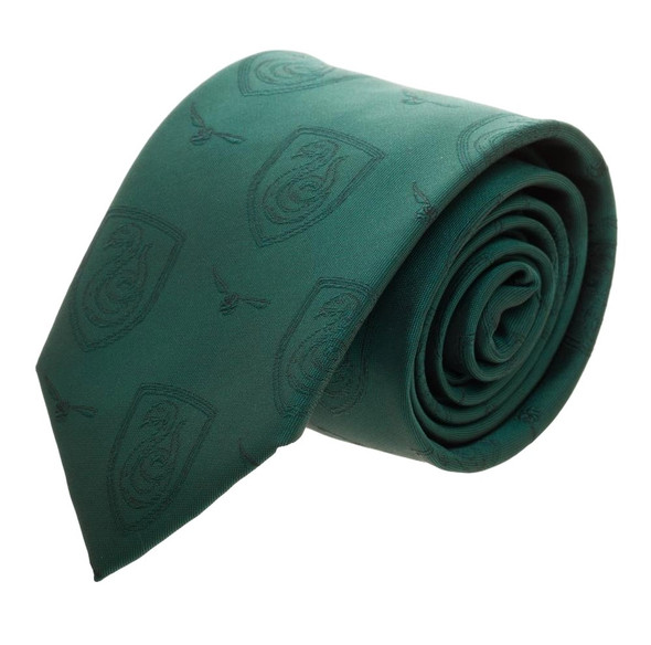 Harry Potter Licensed Slytherin House Mono Neck Tie Halloween Costume Accessory