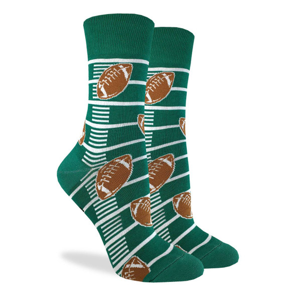 Good Luck Sock Football Crew Socks Adult Shoe Size 5-9 Touchdown