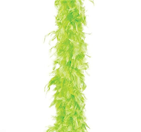 "Neon Green Turkey Feather Boa 55GM 6 ft 72"" Costume Accessory St. Patrick's Day"