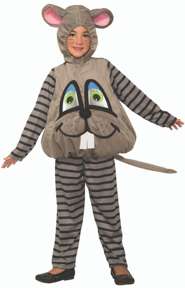 Wiggle-Eye Mouse Costume Child Toddler Funny Wiggly Moving Eyes Grey Christmas