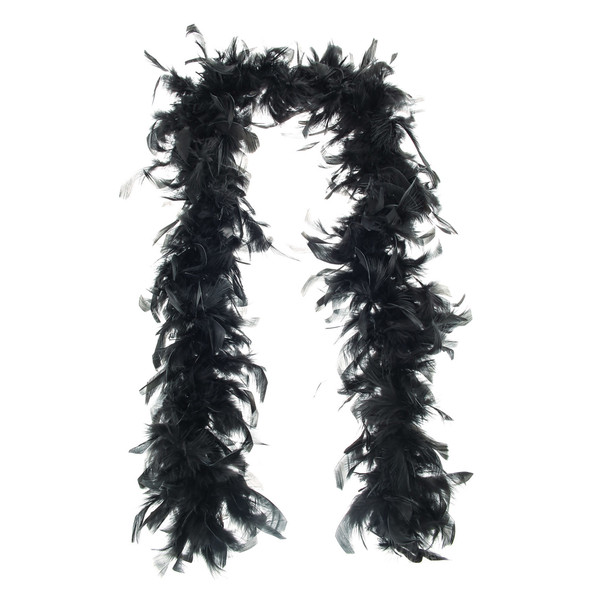 "Black Turkey Feather Boa 55GM 6 ft 72"" Halloween Costume Accessory Burlesque"