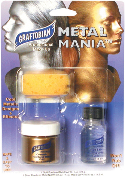 Graftobian Metal Mania Gold Metallic Professional Powder Face & Body Makeup