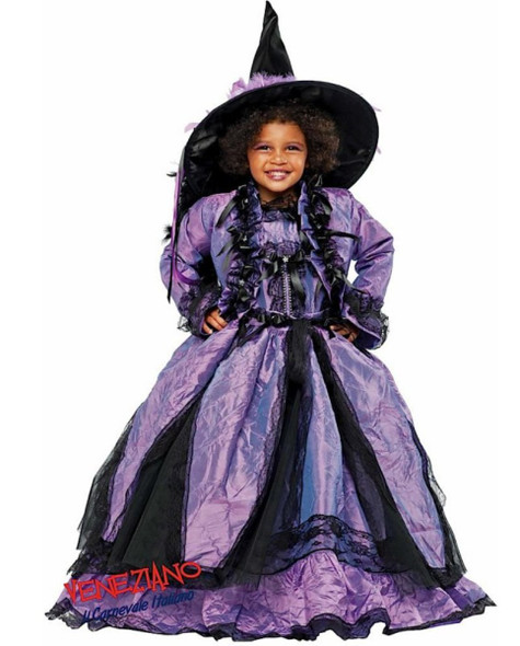 Deluxe Sorceress Magician Purple Gown Girls Halloween Costume Fancy Dress Size 6