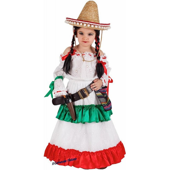 Veneziano Deluxe Carmensita Senorita Mexican Dancer Girls Costume Dress X-Large