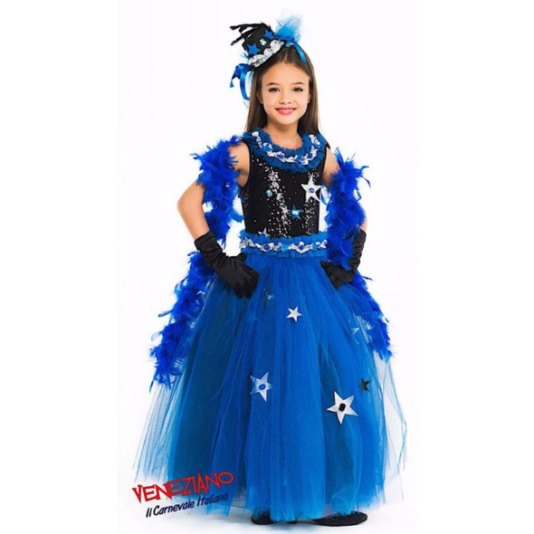 Deluxe Miss Stella of the Night Gown Girls Halloween Celestial Costume Size 6