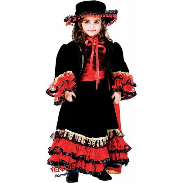 Veneziano Deluxe Flamenco Ballerina Dancer Costume Mexican Girls Dress Medium