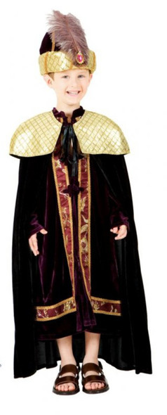 Deluxe Wiseman Biblical Character Boys Religious Sultan King Kids Costume Size 8