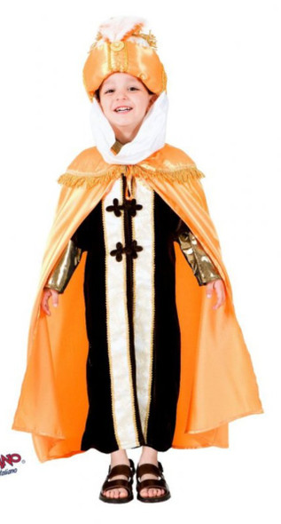 Deluxe Orange Wiseman Biblical  Boys Religious Sultan King Kids Costume Size 6