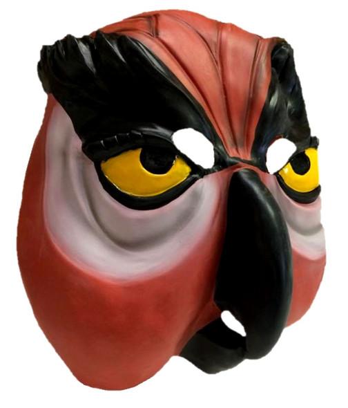 Morbid Owl Latex Mask Adult Rusty Orange Bird Halloween Costume Accessory