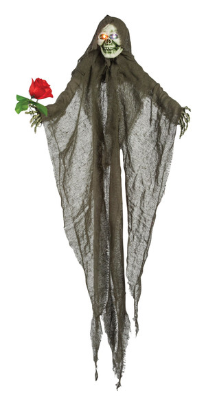 4'  Valentine Ghost Hanging Prop Scary Halloween Haunted House Decoration