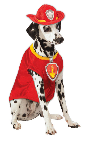 Paw Patrol Marshall The Fire Dog Firefighter Pet Halloween Costume SM-XL