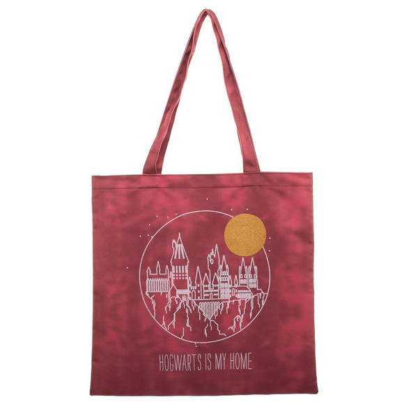 Harry Potter Hogwarts Is My Home Canvas Shopping Tote Bag Travel Groceries