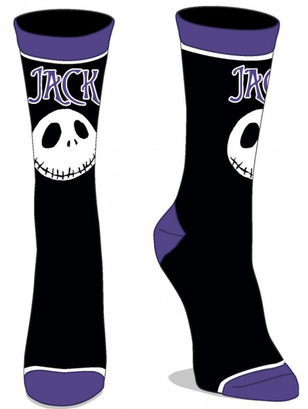 The Nightmare Before Christmas Jack Skellington Junior Crew Socks 9-11