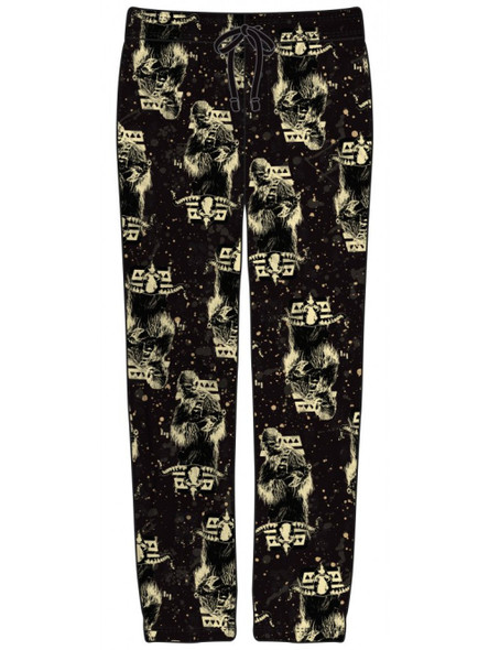 Disney Star Wars Lounge Pants Han Solo Chewy Speckle AOP Adult Mens SM-XL