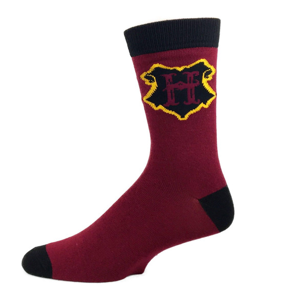 Harry Potter HOGWARTS Crew Socks Adult Men Wizard School Sock Size 10-13