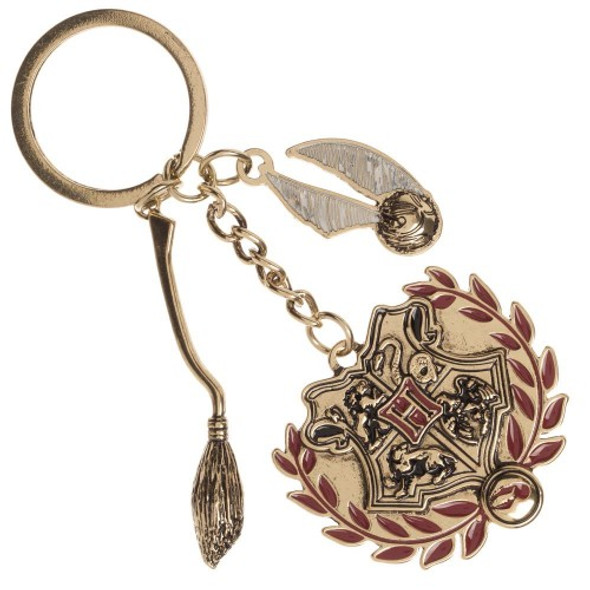 Harry Potter Multi Charm Metal Keychain Keyring School of Witchcraft