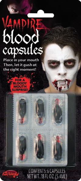 Vampire Red Fake Blood Capsules Halloween Costume Accessory Make-Up 6