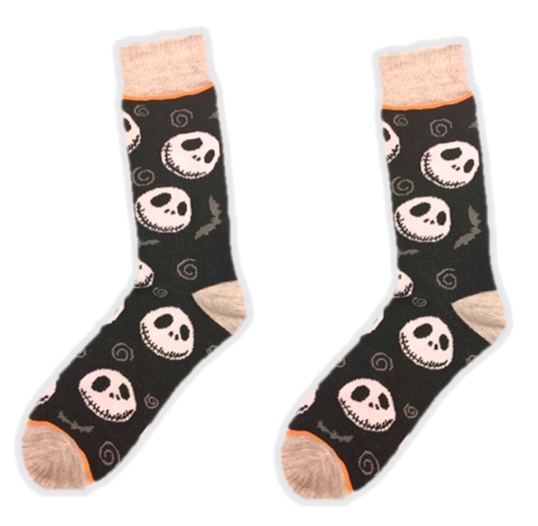 The Nightmare Before Christmas Jack Skellington Casual Crew Socks 10-13