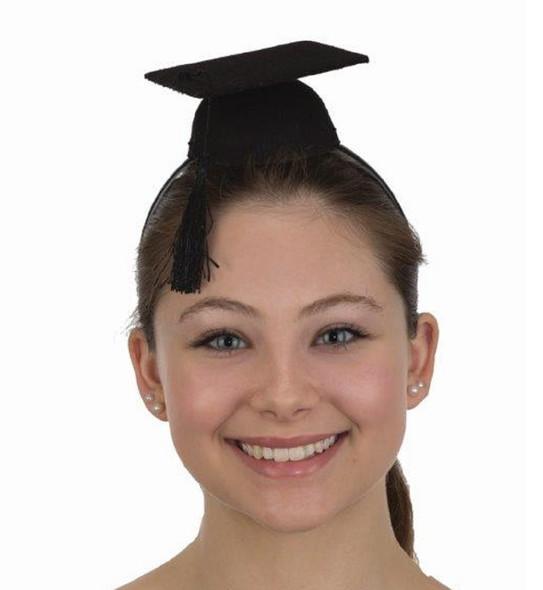 Mini Black Graduation Cap Grad Hat Headband Costume Prop Accessory Celebration