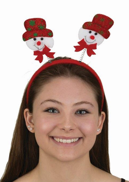Cute Snowman Bopper Headband Christmas Headpiece Festive Costume Accessory