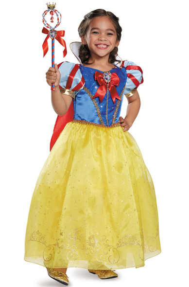 Deluxe Disney Dream Big Snow White Princess Costume Girls Fancy Dress  XS-MD