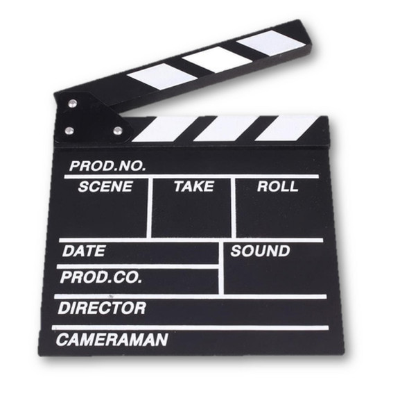 """At The Movies Hollywood Movie 12"""" x 10"""" Clapper Board Directors Cut Theme Prop"""