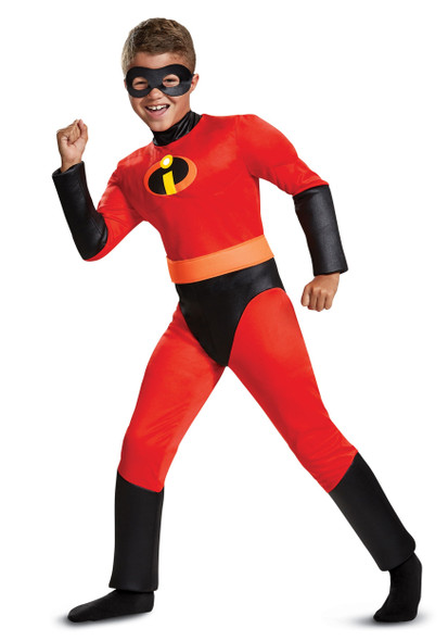 Disney Incredibles 2 Dash Classic Child Boys Costume Size SM 4-6 Muscle Licensed