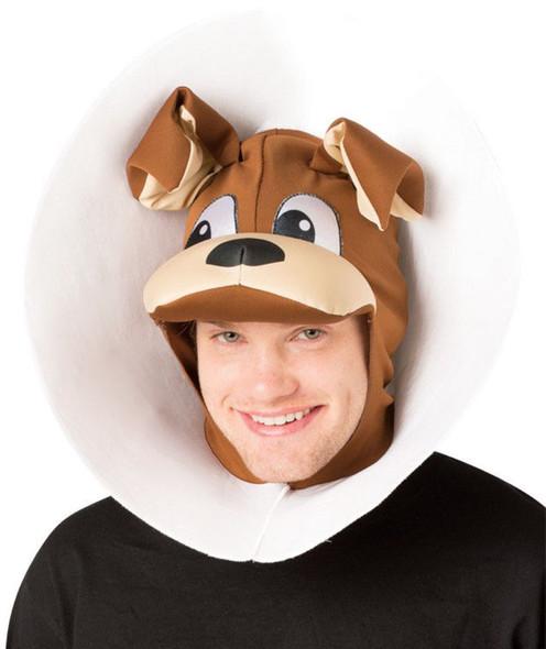 Rasta Imposta Puppy Dog In a Cone Adult Headpiece Hilarious Animal Hat