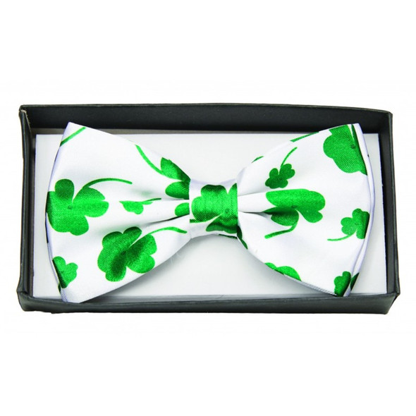 Four Leaf Clover Bow Tie Adult Costume Accessory Bowtie St Patrick's Day Patty