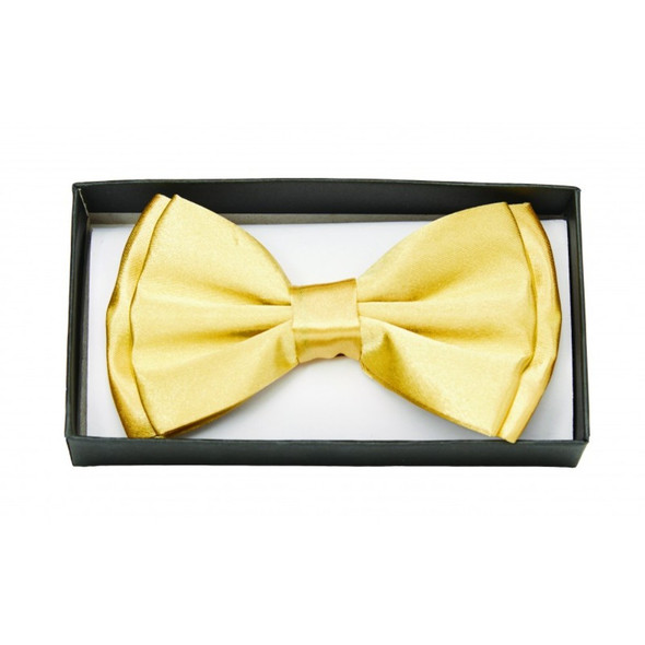 Gold Satin Bow Tie Adult Adjustable Bowtie Tuxedo Costume Accessory
