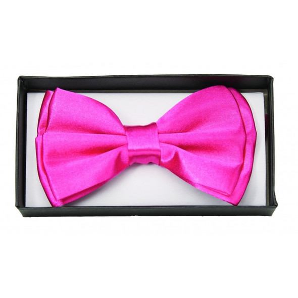 Pink Satin Bow Tie Adult Adjustable Bowtie Tux Valentine's Day Costume Accessory