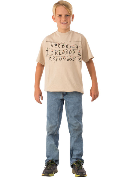 Netflix Series Stranger Things Alphabet Season 1 Child Boys Costume T-Shirt LG