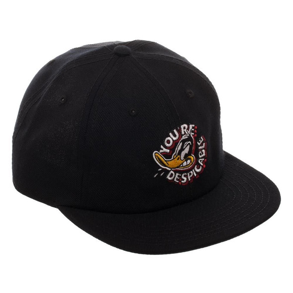 Looney Tunes Daffy Duck Black Ballcap Baseball Hat Cap Adjustable Licensed