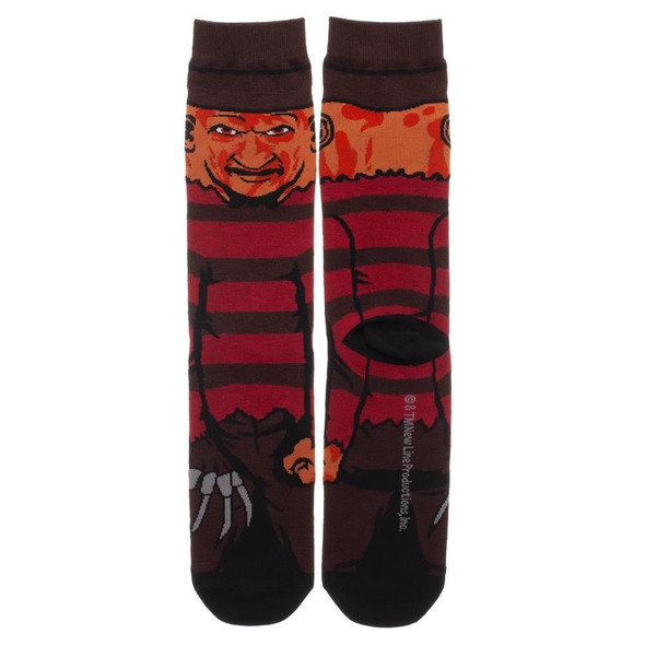 Nightmare on Elm Street Freddy Krueger 360 Crew Socks Collection Adult Mens OS