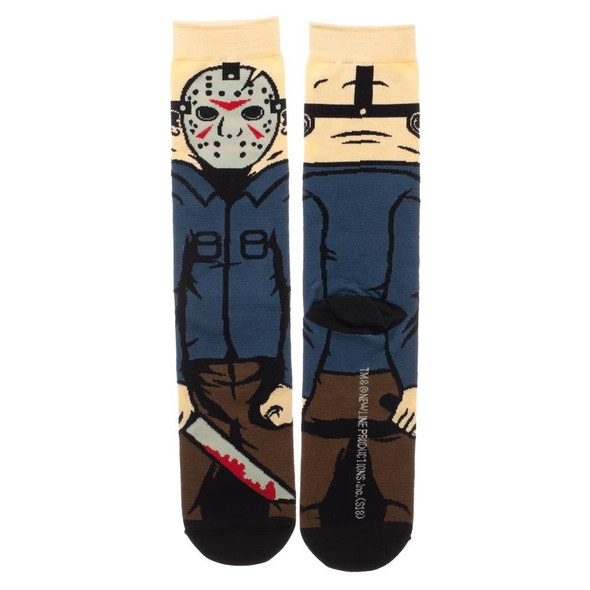 Friday The 13th Jason 360 Crew Socks Serial Killer Collection Adult Mens OS