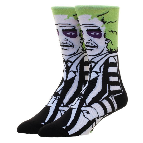 Beetlejuice 360 Crew Socks Character Collection Ghost Adult Mens One Size