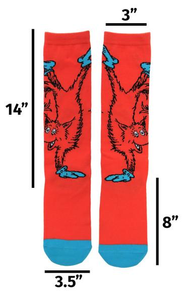 Dr. Seuss Fox in Socks Knee High Costume Socks