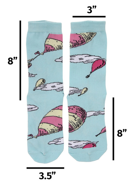 Dr. Seuss Oh the Places You'll Go! Costume Crew Socks