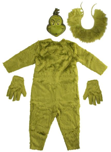 Dr. Seuss The Grinch Deluxe Jumpsuit Mens S/M
