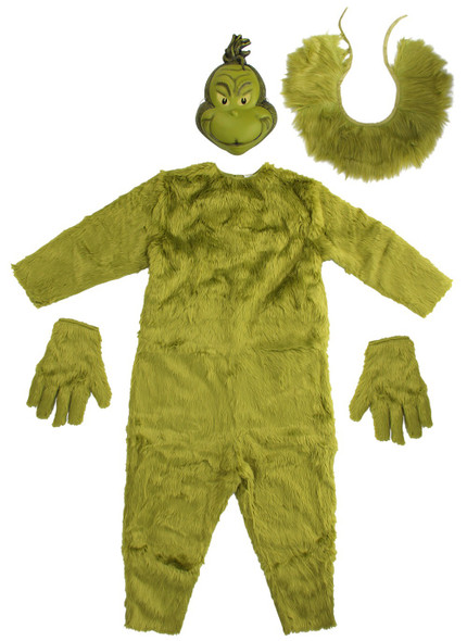 Dr. Seuss The Grinch Deluxe Jumpsuit Mens S/M