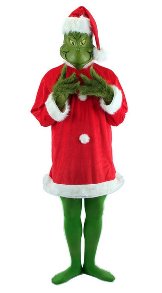 Dr. Seuss The Grinch Santa Costume Deluxe with Mask Mens