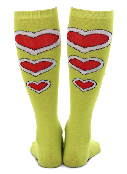 The Grinch Knee High Costume Socks