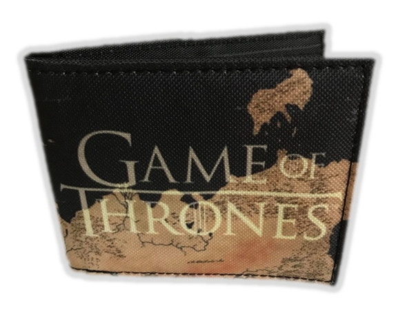 HBO Game of Thrones Bi-Fold Wallet Westeros Map Quickturn Canvas AOP Licensed