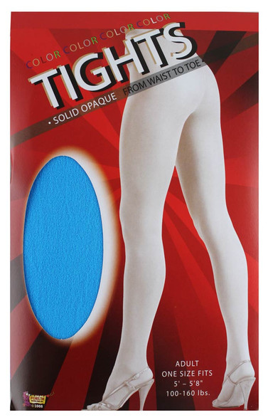Solid Blue Tights Pantyhose Costume Accessory Women's Hosiery One Size