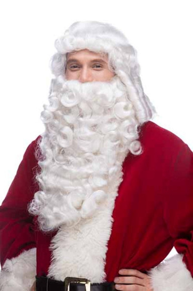 Westbay Santa Claus Wig N' Beard Christmas Set Old Mens Septia Costume Accessory