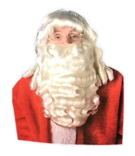 Deluxe Santa Claus Wig & Beard Costume Set Mr. Claus Costume Accessory St. Nick