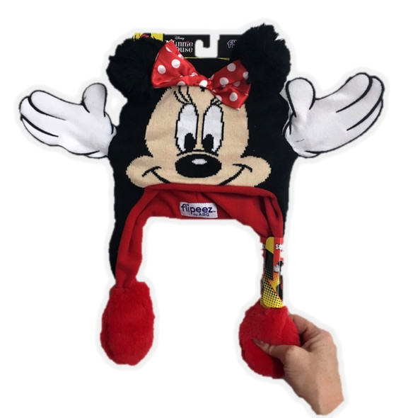 Disney Minnie Mouse Flipeez Hat Beanie Tuque Child Boys Girls Moving Hands